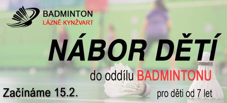 Nábor dětí do oddílu badmintonu